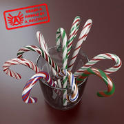 Candy Canes 1 - Candy Canes In Cup - 3ds max 2010 - Mental Ray 3d model