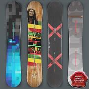 Snowboards Collection V2 3d model