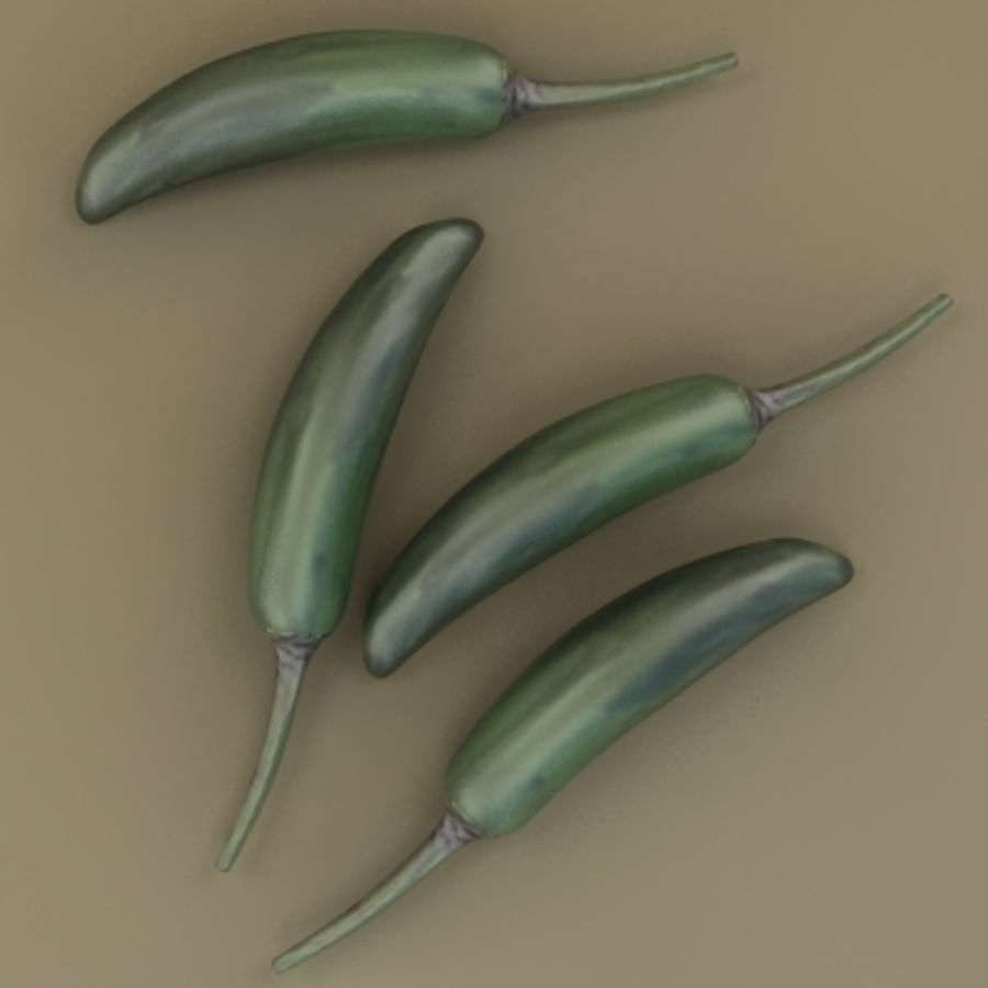 Chilli royalty-free 3d model - Preview no. 8