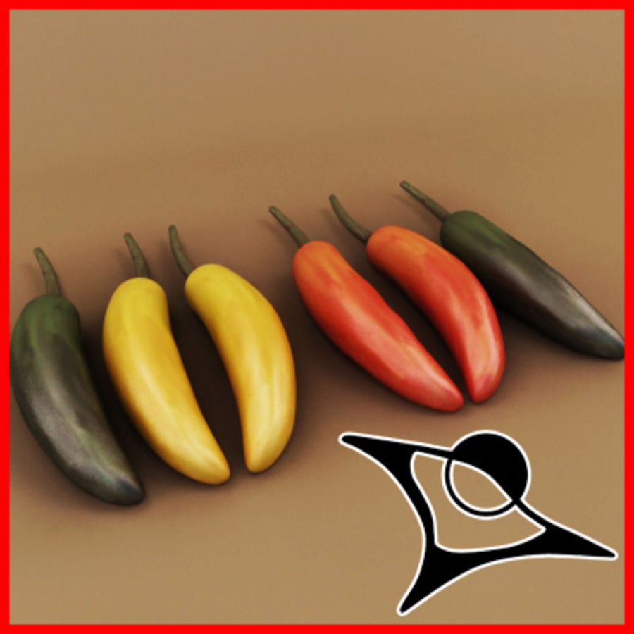 Chilli royalty-free 3d model - Preview no. 1