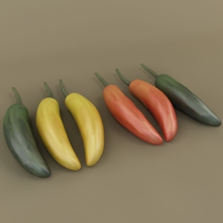 Chilli royalty-free 3d model - Preview no. 2