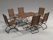 Garden Furniture Set - 6person 3d model