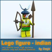 Lego karaktär - indian 3d model