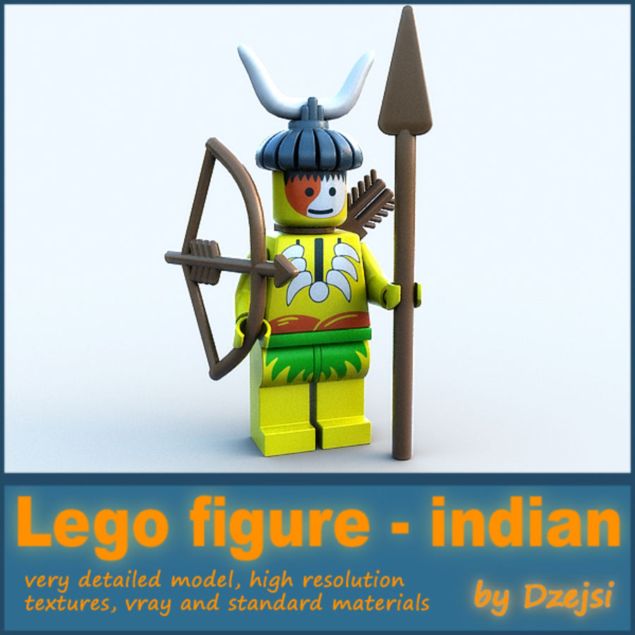 Lego karakteri - Hint royalty-free 3d model - Preview no. 1