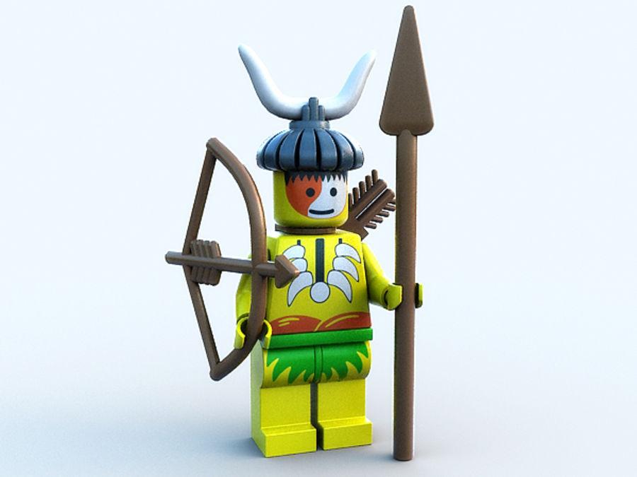 Lego karakteri - Hint royalty-free 3d model - Preview no. 2