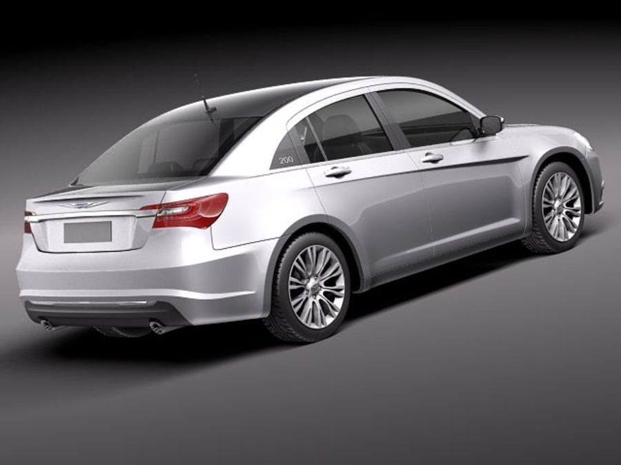 Chrysler 200 2011 royalty-free 3d model - Preview no. 5