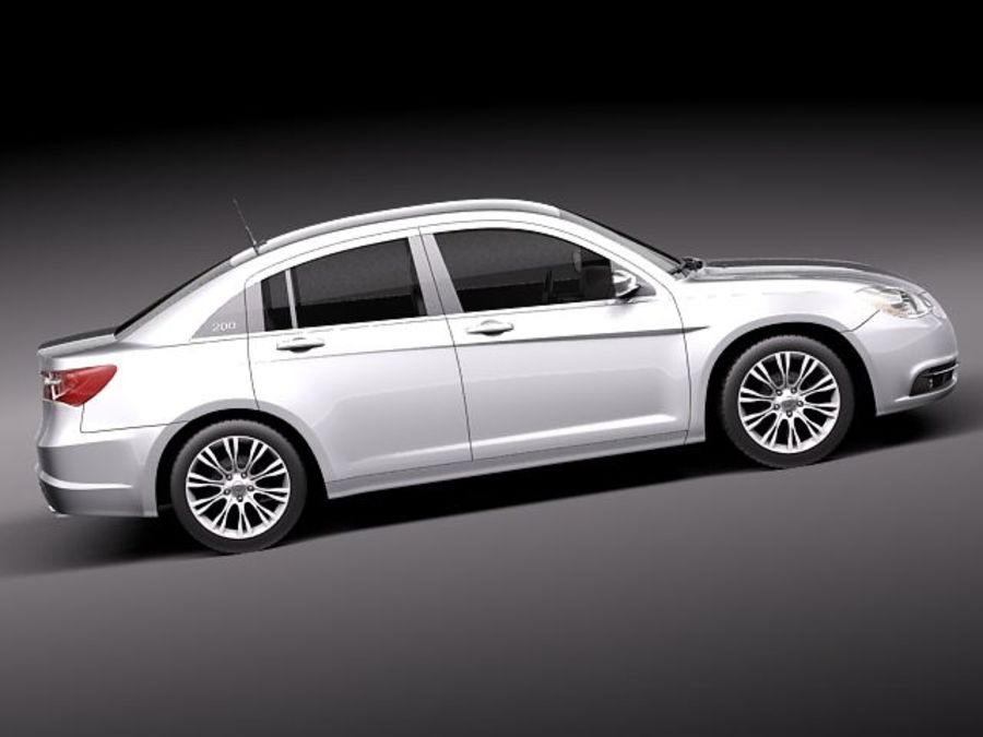 Chrysler 200 2011 royalty-free 3d model - Preview no. 7