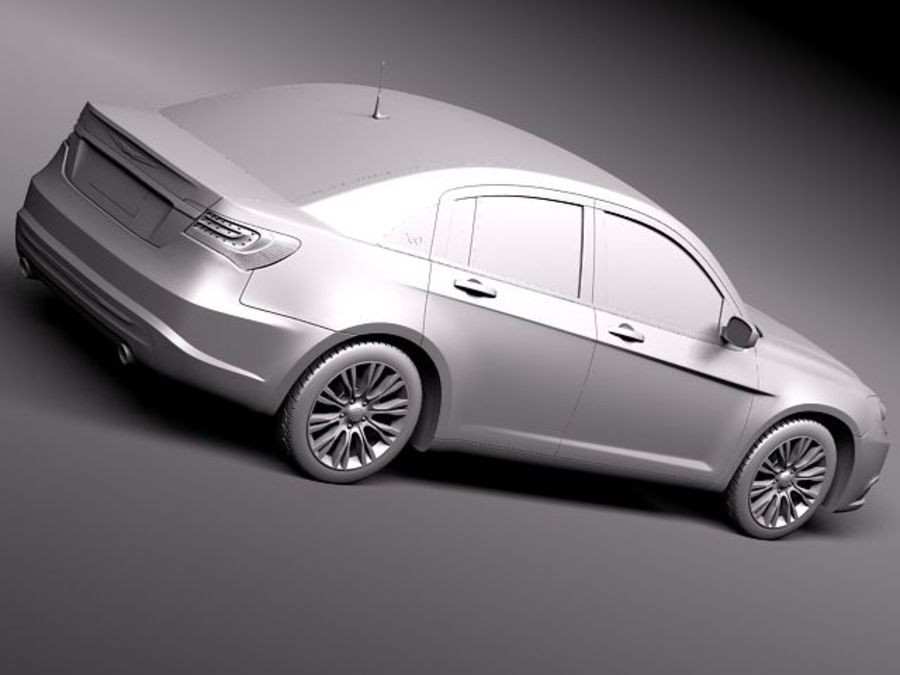 Chrysler 200 2011 royalty-free 3d model - Preview no. 9
