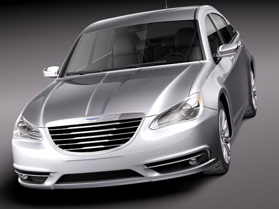Chrysler 200 2011 royalty-free 3d model - Preview no. 2