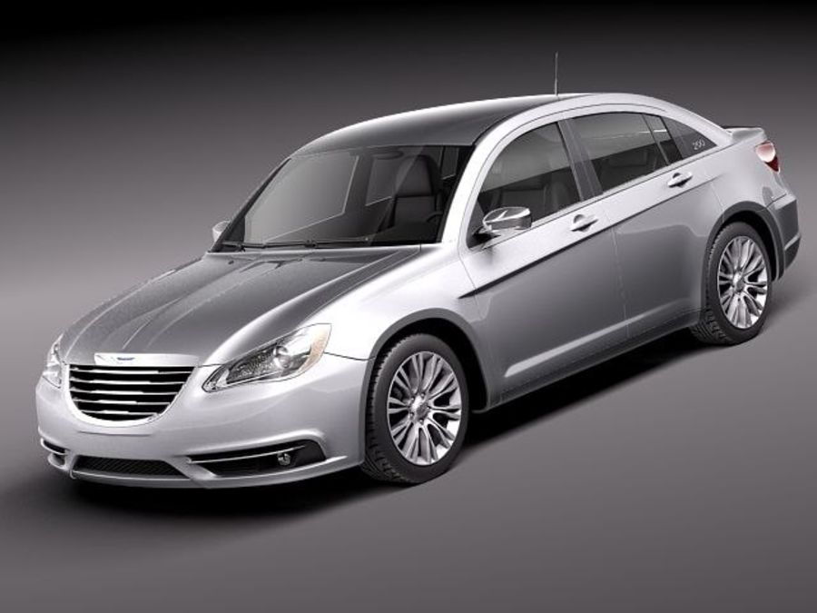 Chrysler 200 2011 royalty-free 3d model - Preview no. 1