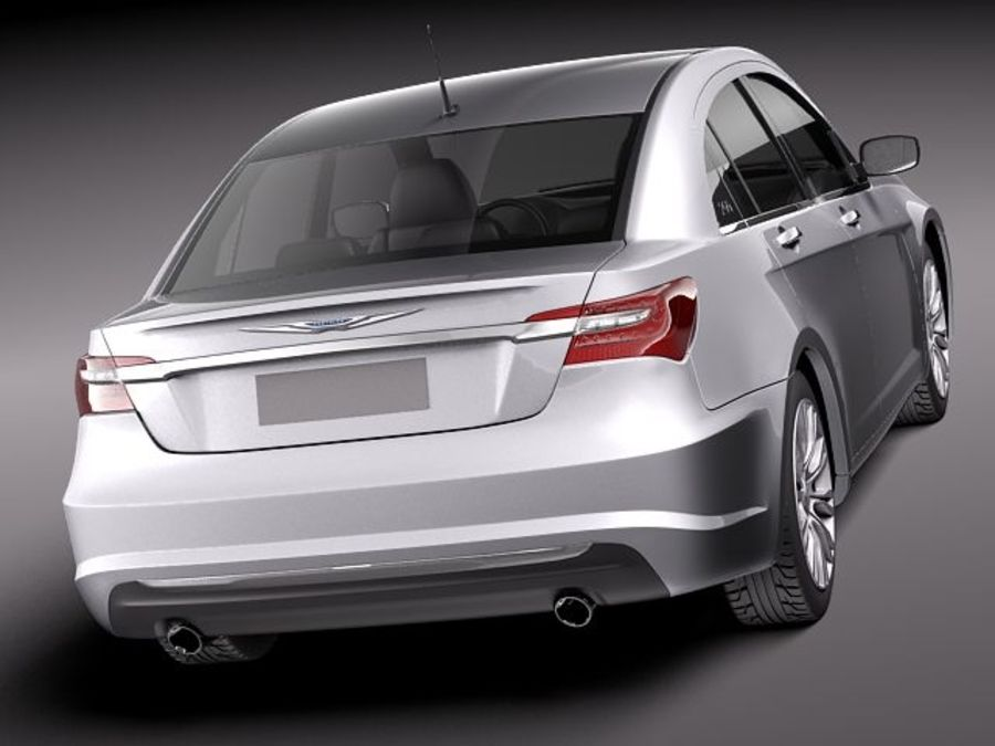 Chrysler 200 2011 royalty-free 3d model - Preview no. 6