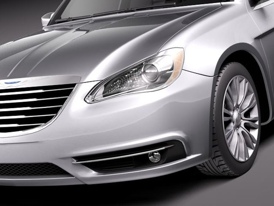 Chrysler 200 2011 royalty-free 3d model - Preview no. 3