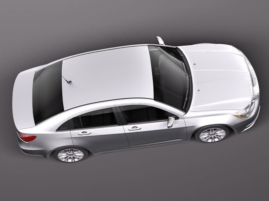 Chrysler 200 2011 royalty-free 3d model - Preview no. 8