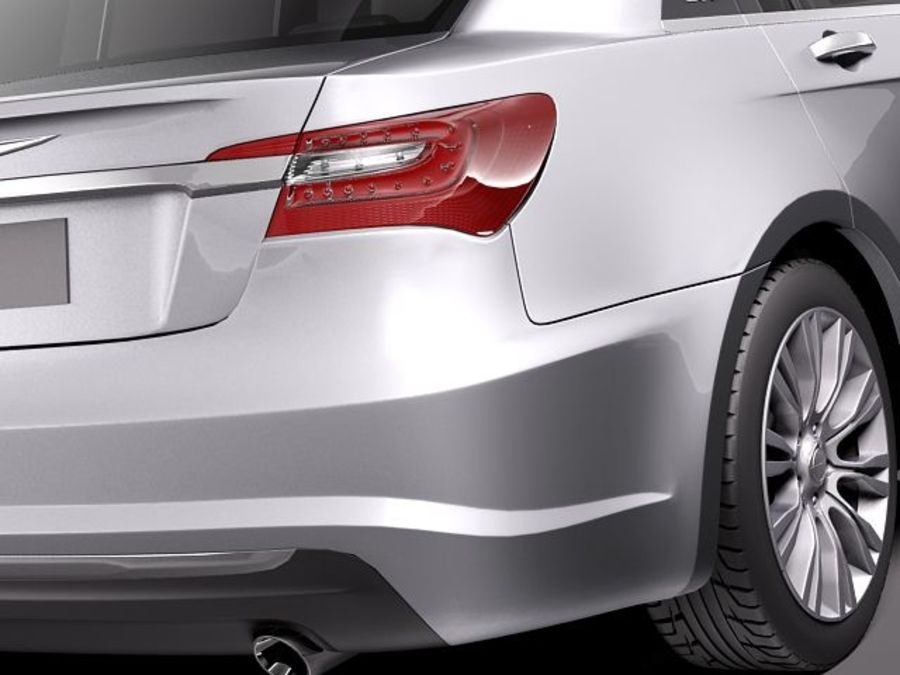 Chrysler 200 2011 royalty-free 3d model - Preview no. 4