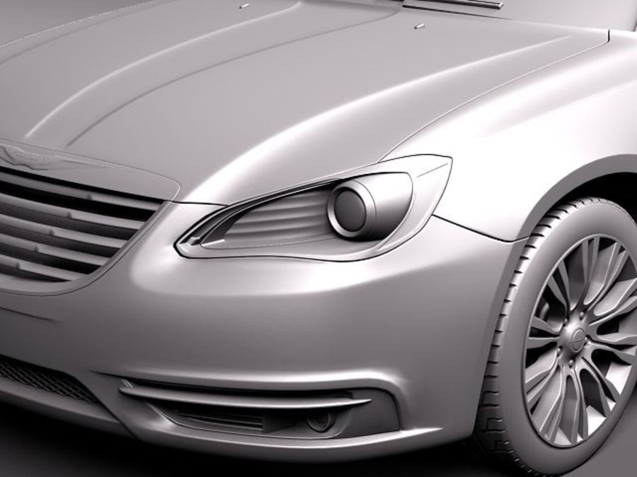Chrysler 200 2011 royalty-free 3d model - Preview no. 11