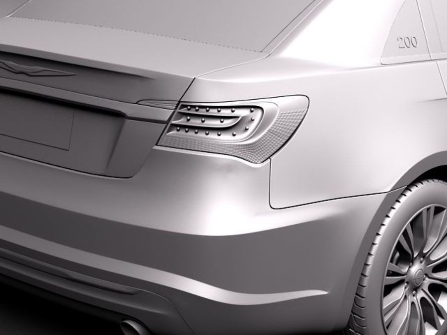 Chrysler 200 2011 royalty-free 3d model - Preview no. 10