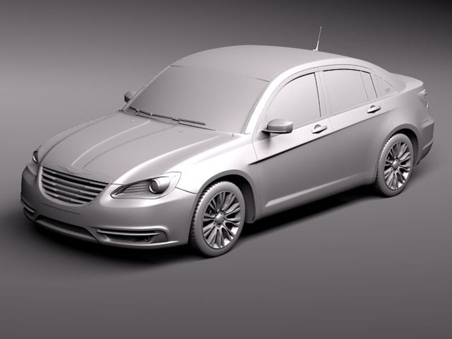 Chrysler 200 2011 royalty-free 3d model - Preview no. 12