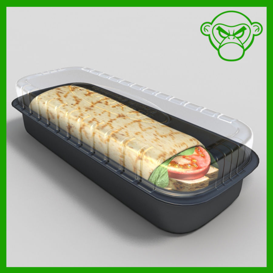 Wrap au poulet royalty-free 3d model - Preview no. 1
