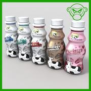 milk bottles 3d model