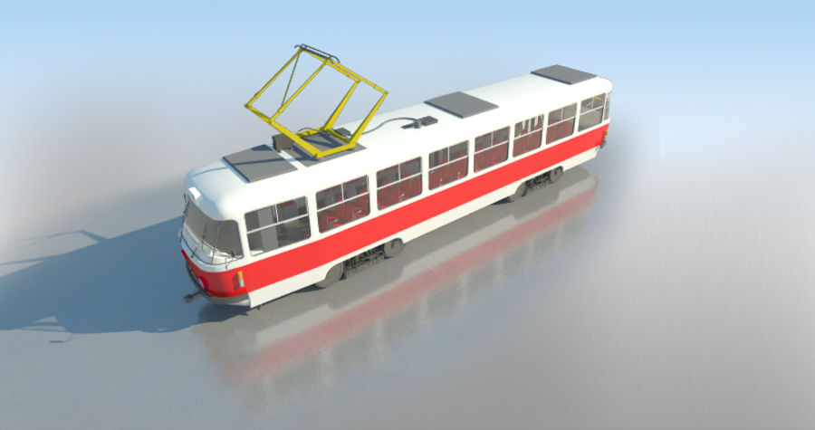 Tram Tatra T3 - IN SALE !!! royalty-free 3d model - Preview no. 5