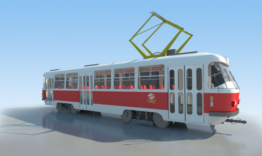 Tram Tatra T3 - AMAZING SALE !!! royalty-free 3d model - Preview no. 1