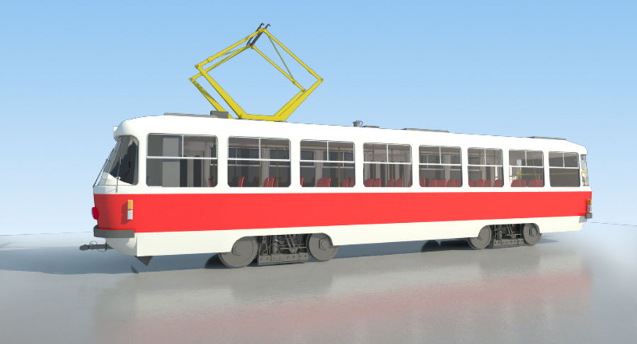 Tram Tatra T3 - IN SALE !!! royalty-free 3d model - Preview no. 2