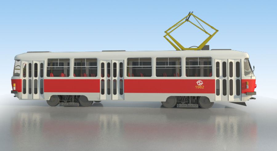 Tram Tatra T3 - IN SALE !!! royalty-free 3d model - Preview no. 3