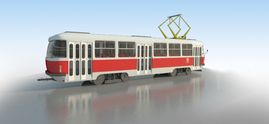 Tram Tatra T3 - IN SALE !!! royalty-free 3d model - Preview no. 4