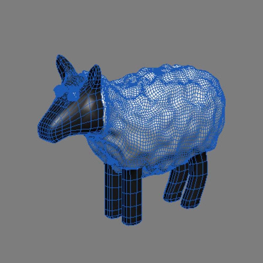 animals sheep royalty-free 3d model - Preview no. 3