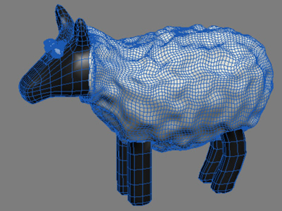 animals sheep royalty-free 3d model - Preview no. 2