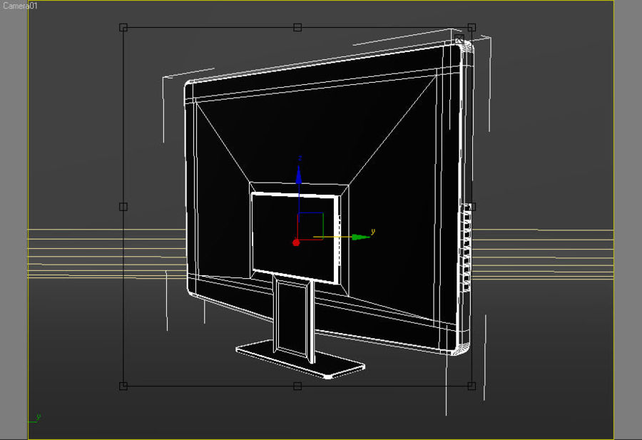 TV moderna royalty-free modelo 3d - Preview no. 2