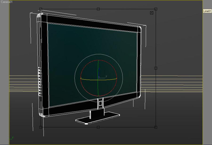 TV moderna royalty-free modelo 3d - Preview no. 3