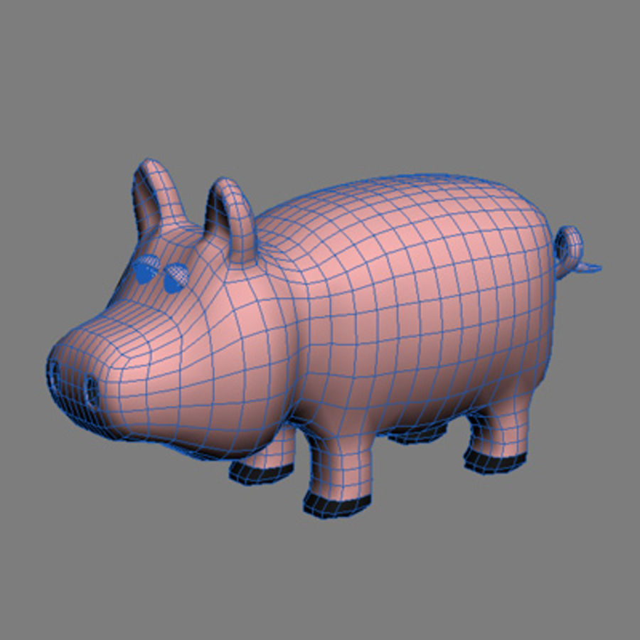 animaux cochon royalty-free 3d model - Preview no. 3