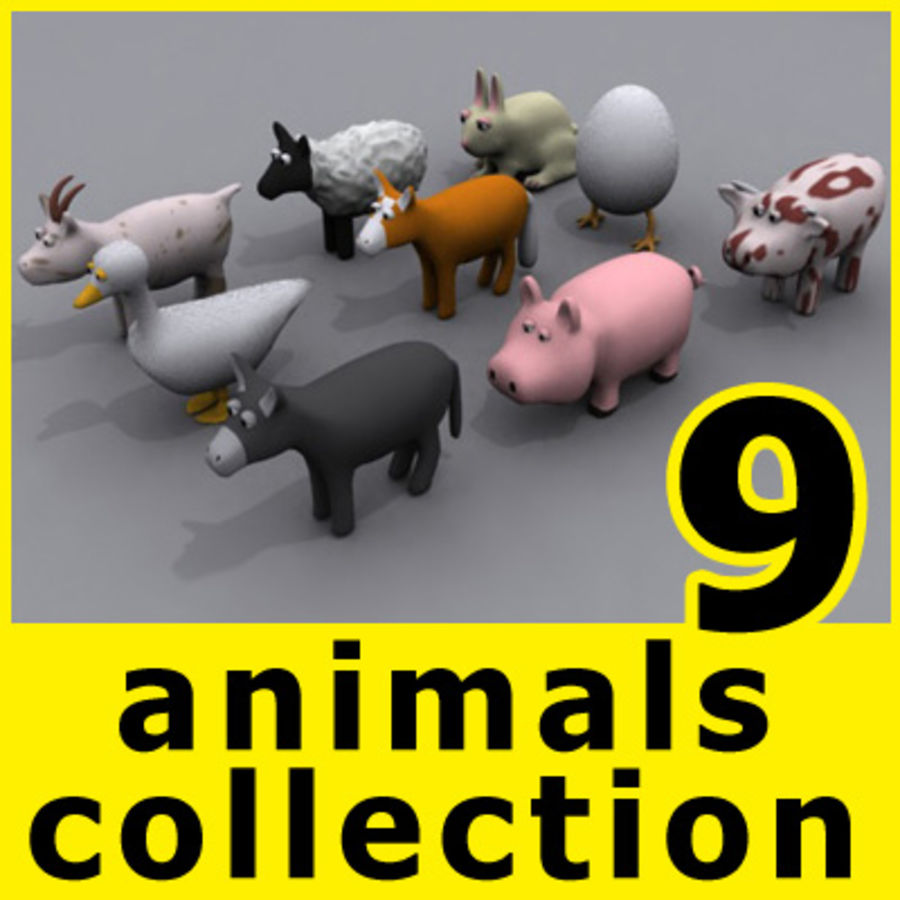 animaux cochon royalty-free 3d model - Preview no. 4