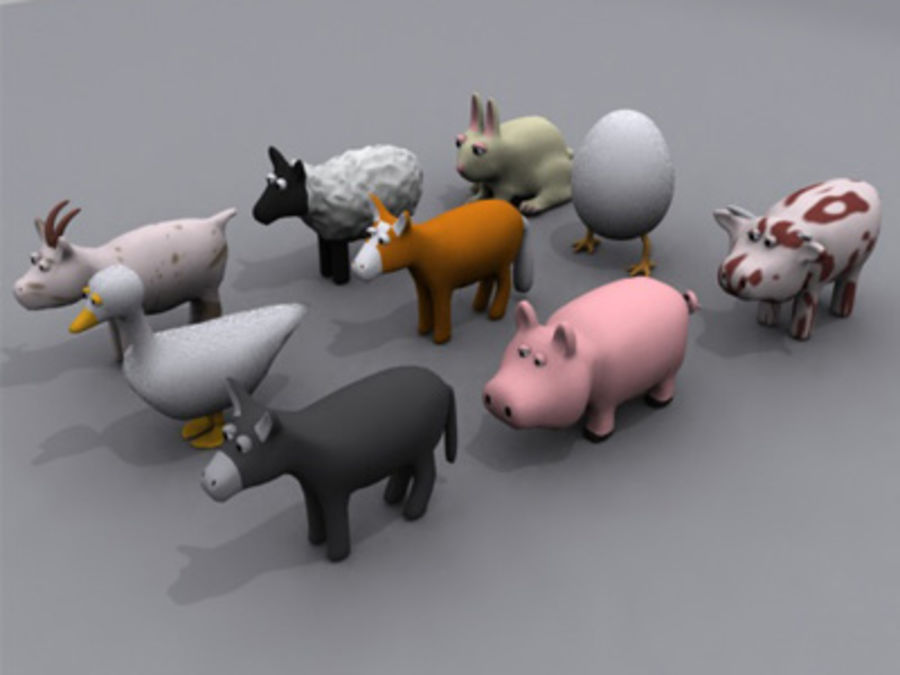 animaux cochon royalty-free 3d model - Preview no. 5