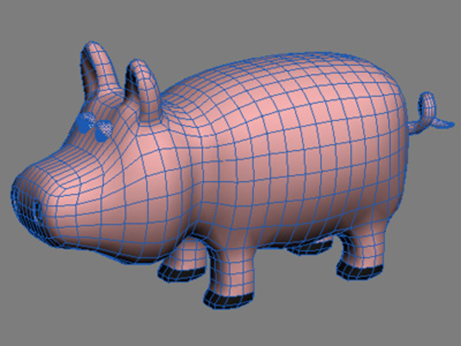 animaux cochon royalty-free 3d model - Preview no. 2