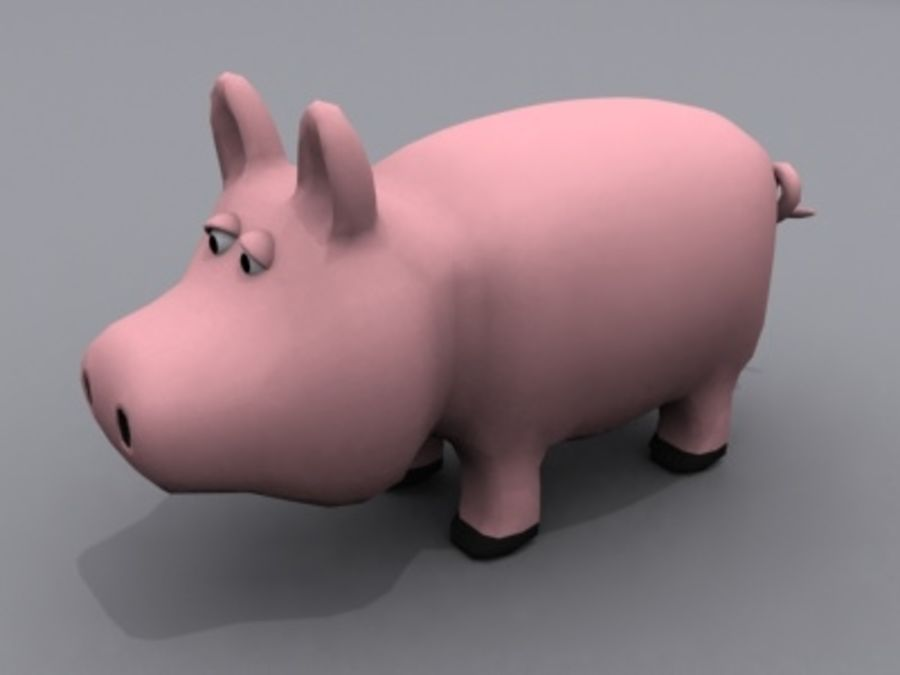 animals pig royalty-free 3d model - Preview no. 1