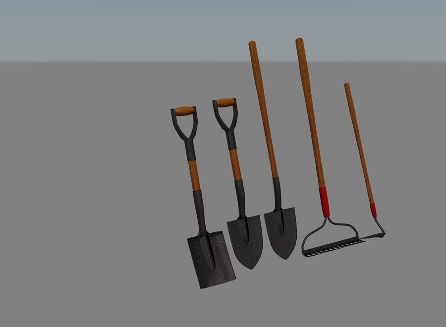 Garden Tools royalty-free 3d model - Preview no. 2