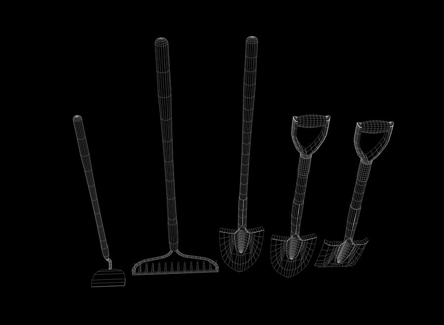 Garden Tools royalty-free 3d model - Preview no. 14
