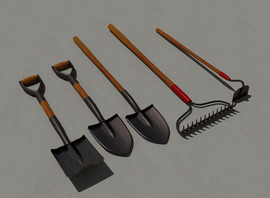 Garden Tools royalty-free 3d model - Preview no. 3