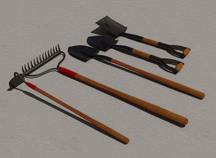Garden Tools royalty-free 3d model - Preview no. 4