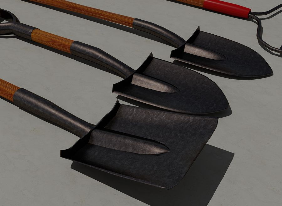 Garden Tools royalty-free 3d model - Preview no. 5