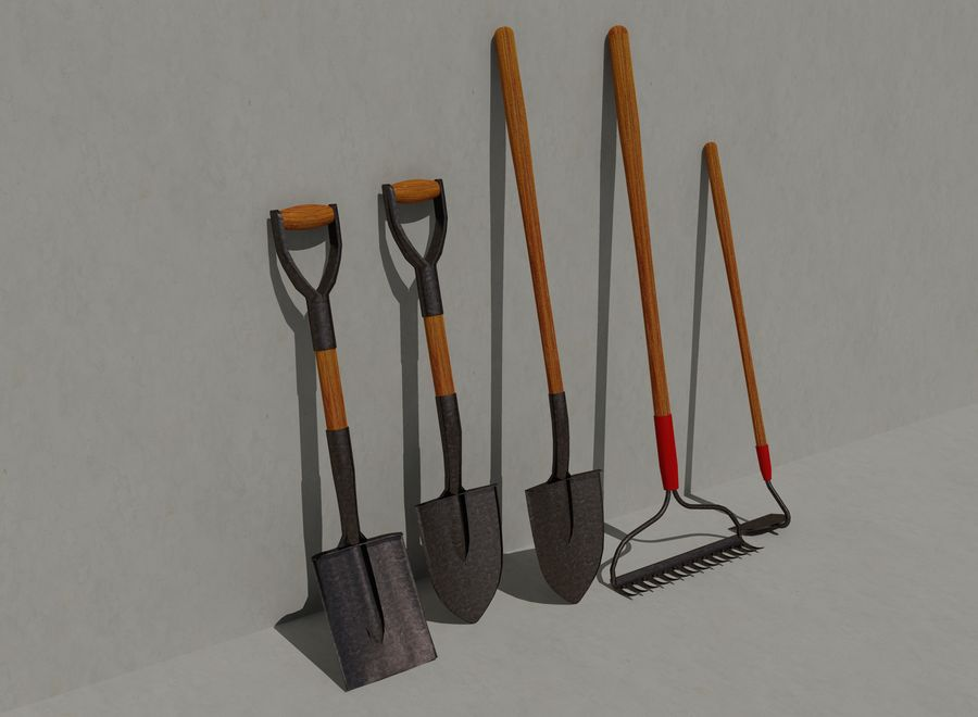 Garden Tools royalty-free 3d model - Preview no. 1