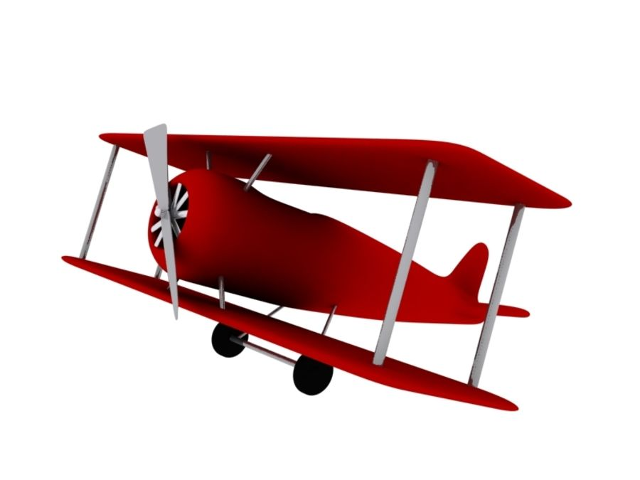 Airplane royalty-free 3d model - Preview no. 2