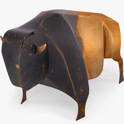Buffalo bison copper statuette souvenir 3d model
