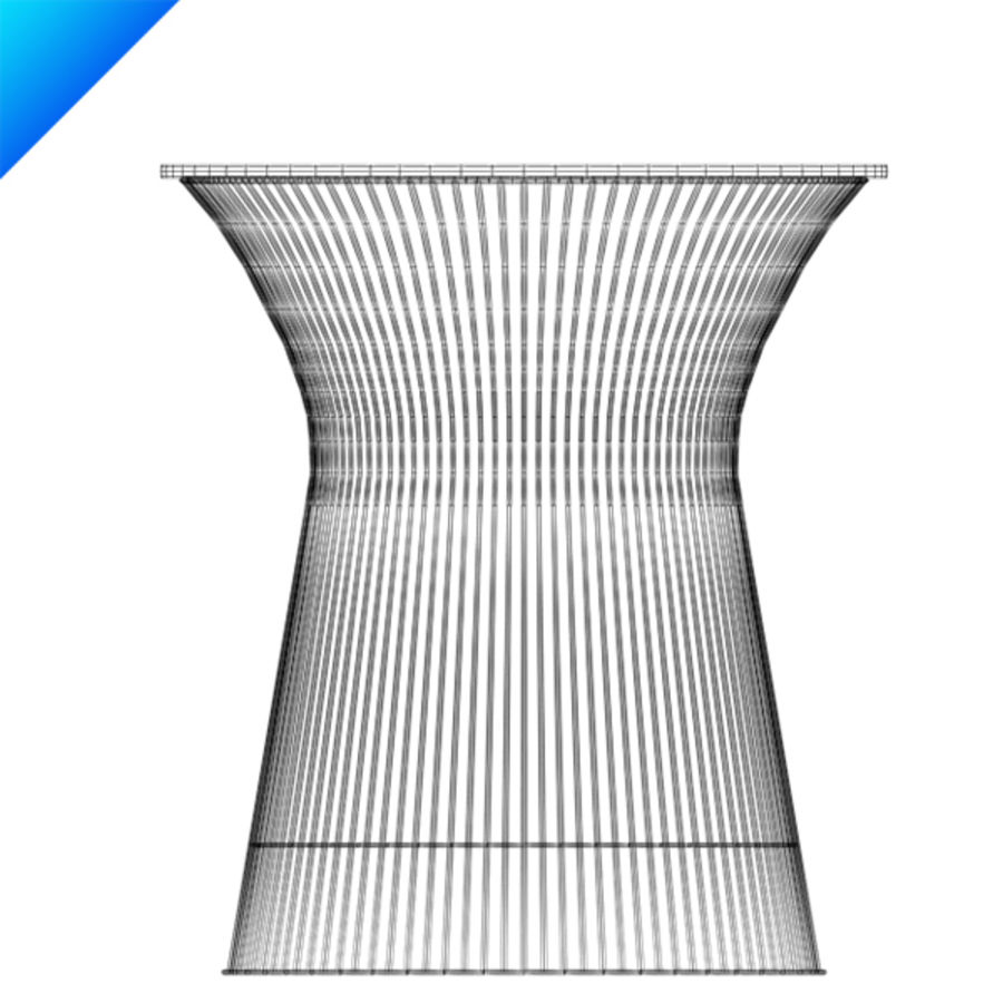3 Platner Side Table Royalty Free 3d Model   Preview No.