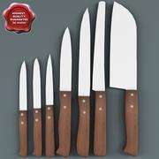 Kolekcja noży kuchennych V1 3d model