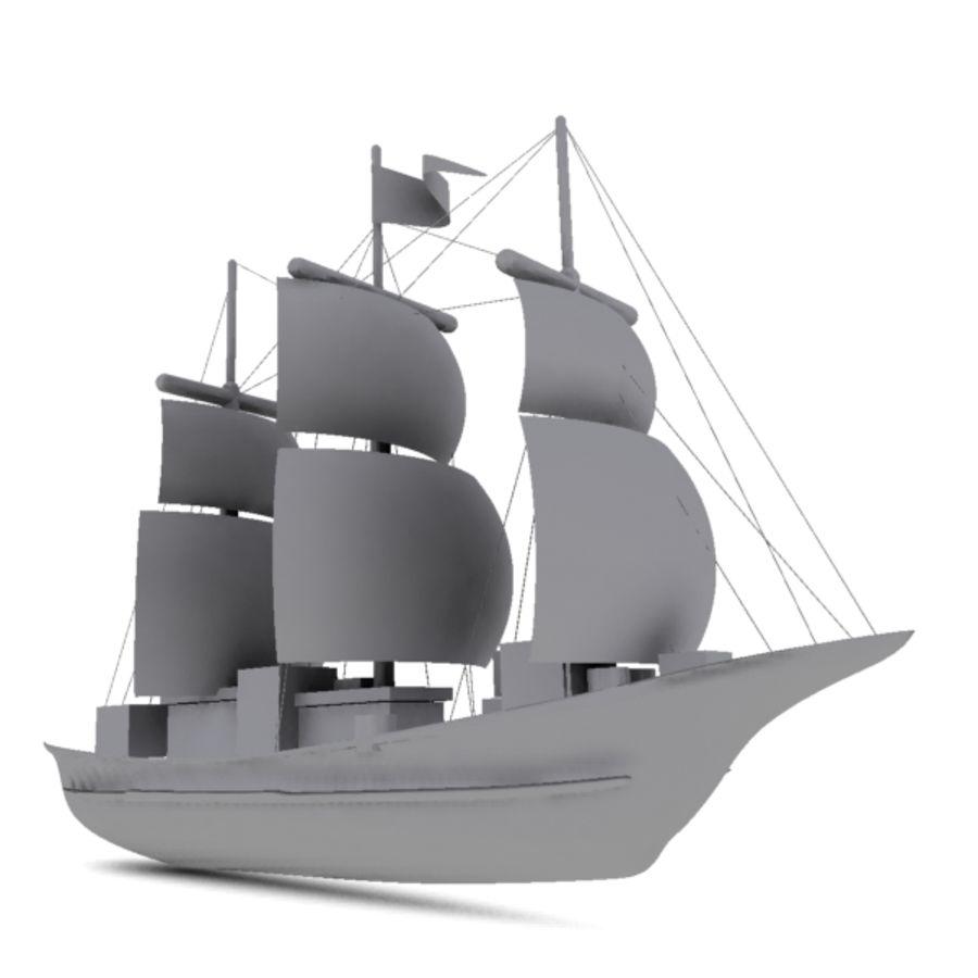 łódź royalty-free 3d model - Preview no. 1