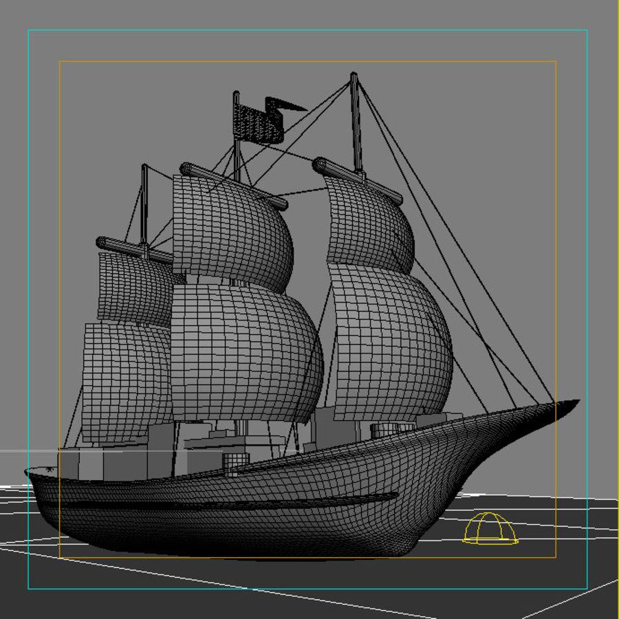 łódź royalty-free 3d model - Preview no. 2