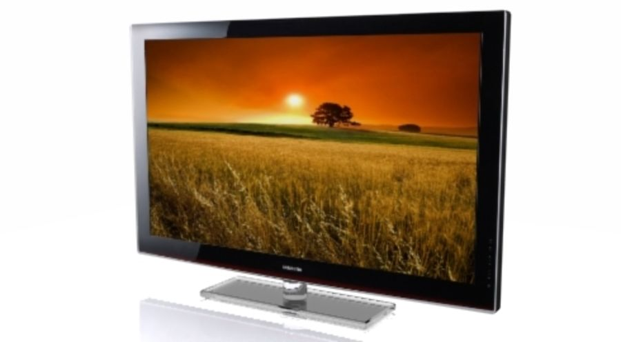 Samsung LCD TV royalty-free 3d model - Preview no. 2